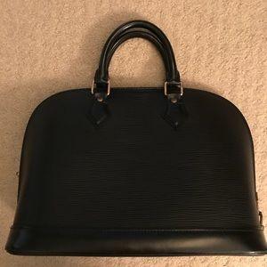 Louis Vuitton Alma Black Epi Bag
